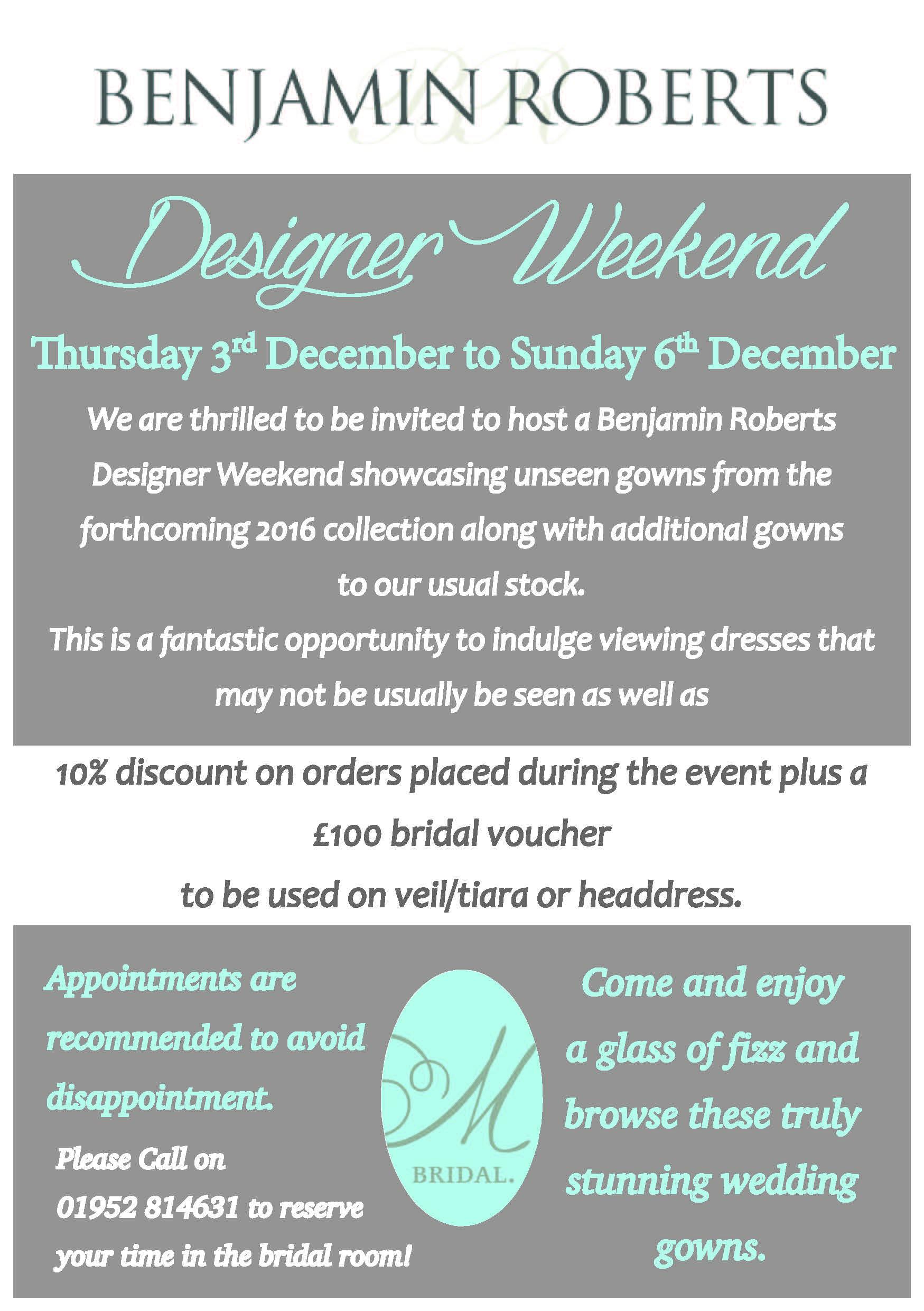 Benjamin Roberts Designer Weekend